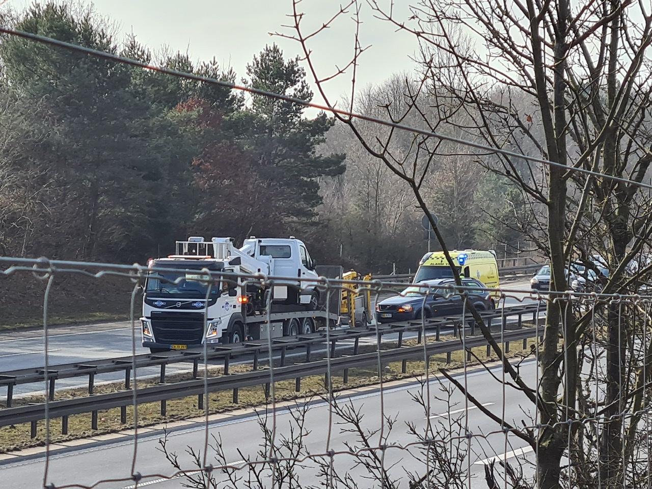 Motorvejsulykke på Østjyske motorvej ved Kolding