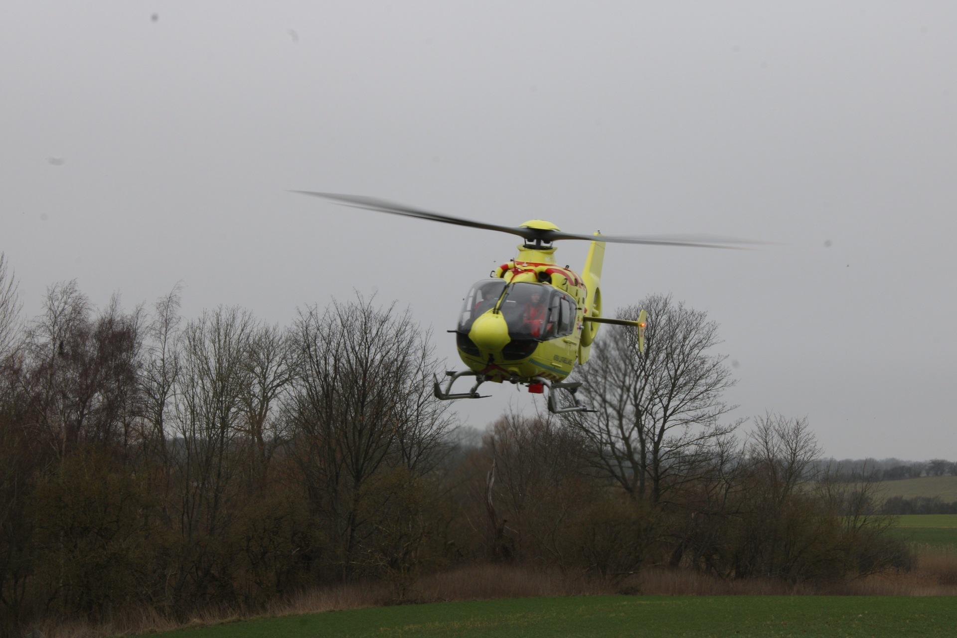 Ulykke i Nykøbing Sjælland - helikopter til stede