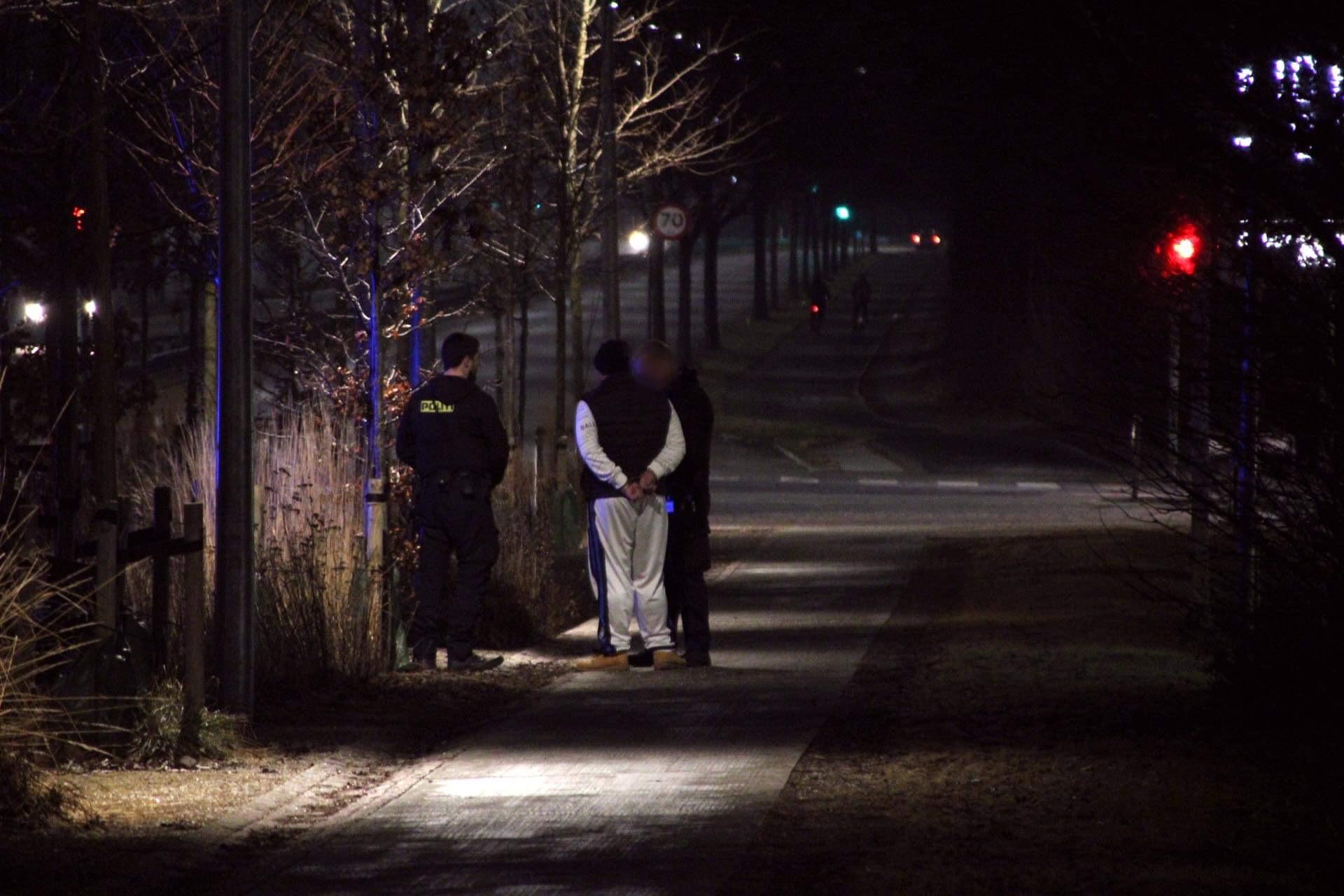 Politiaktion ved Skovlunde Centeret