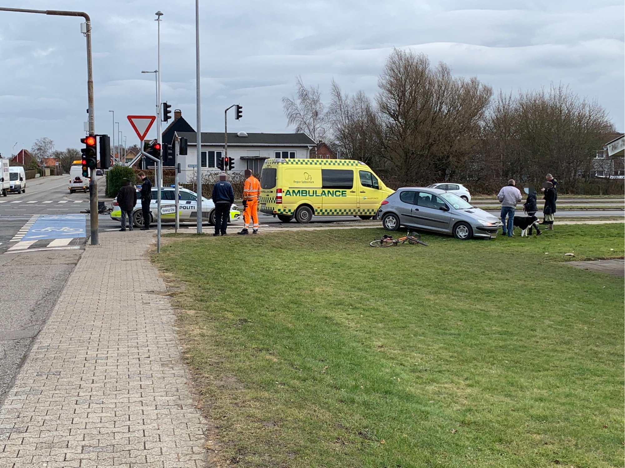Uheld i Fredericia - to biler kørt sammen
