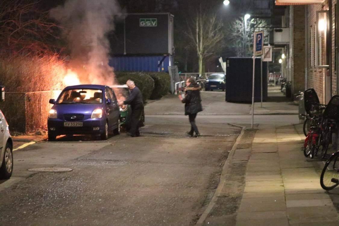Bilbrand i København tirsdag aften - femte brand på en time