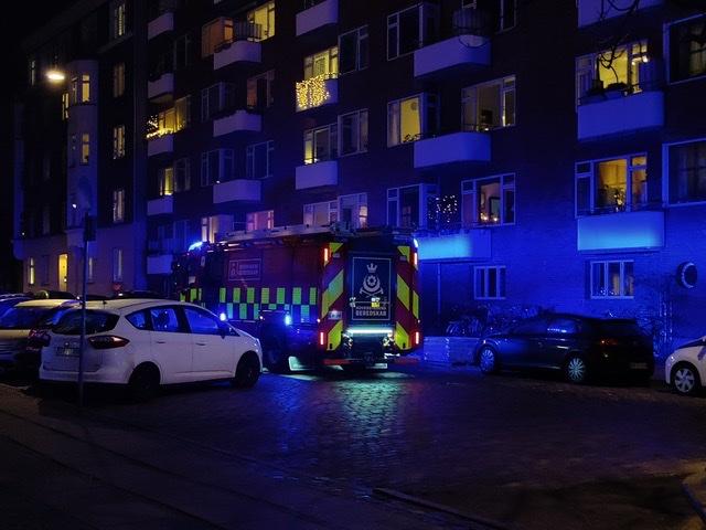 Melding om brand i København