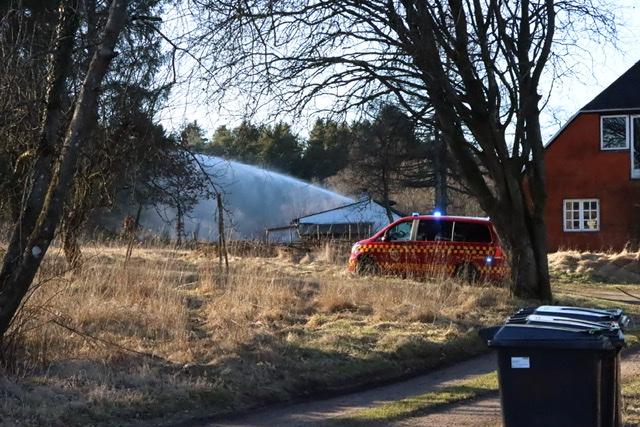 Ild i græs i Silkeborg