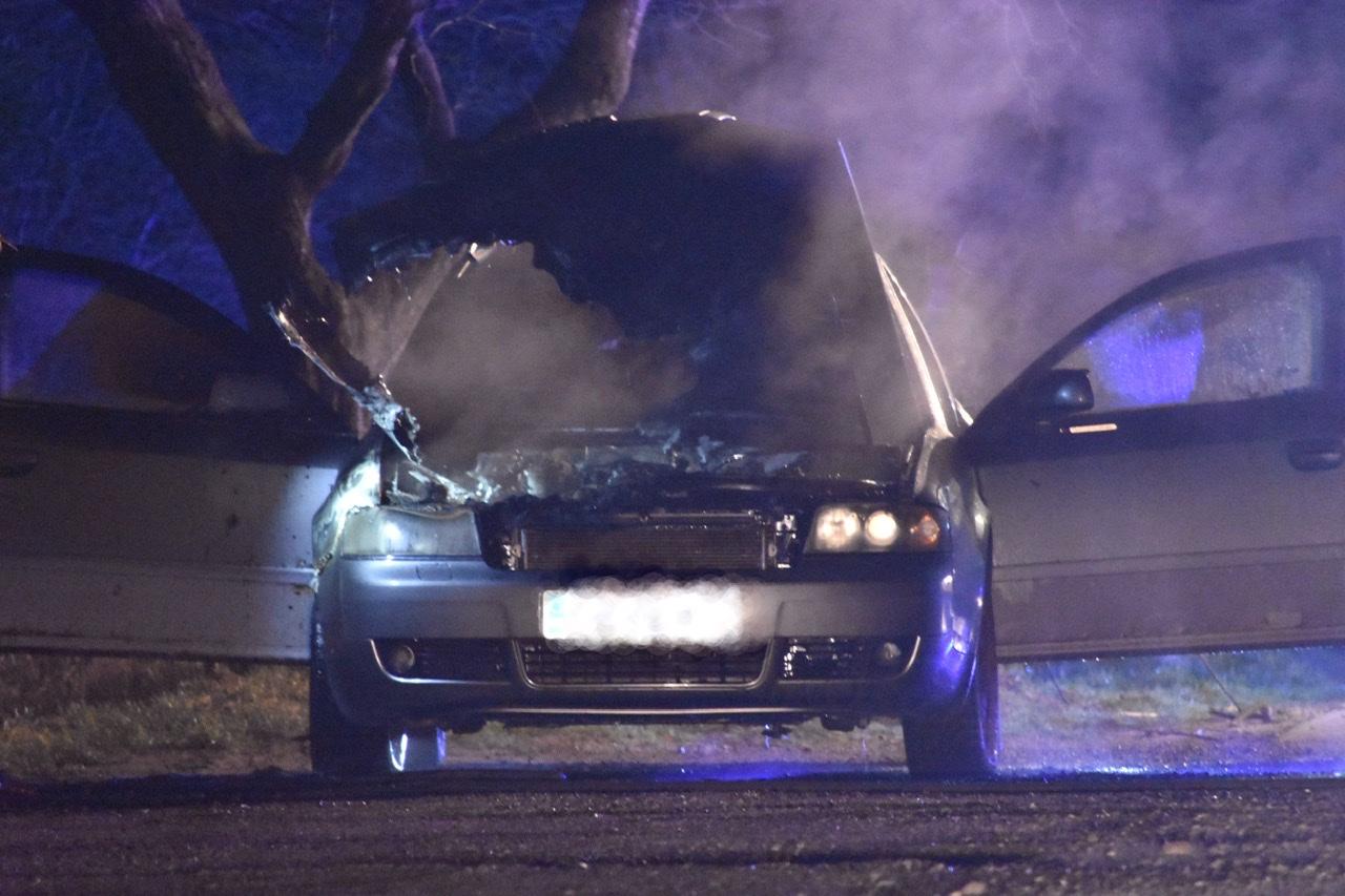 Bilbrand i Vojens tirsdag aften
