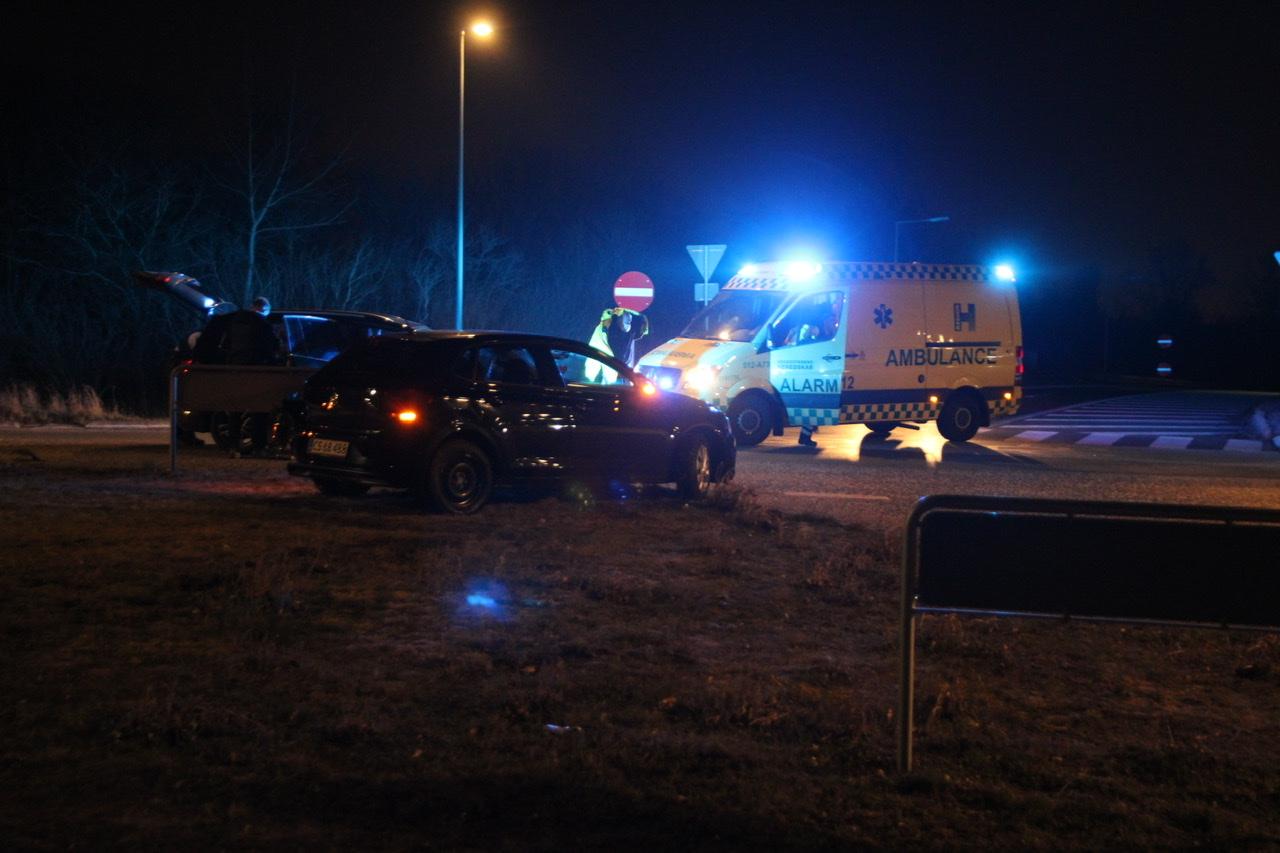 Uheld mellem to biler i Gladsaxe