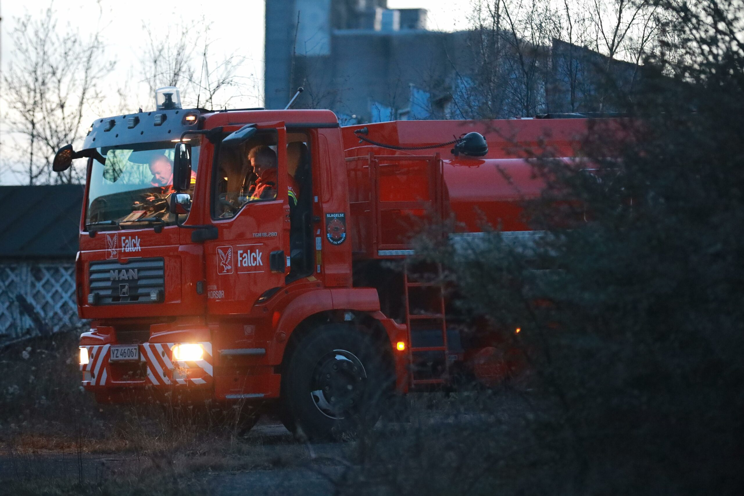 Brand i forladt bygning i Korsør