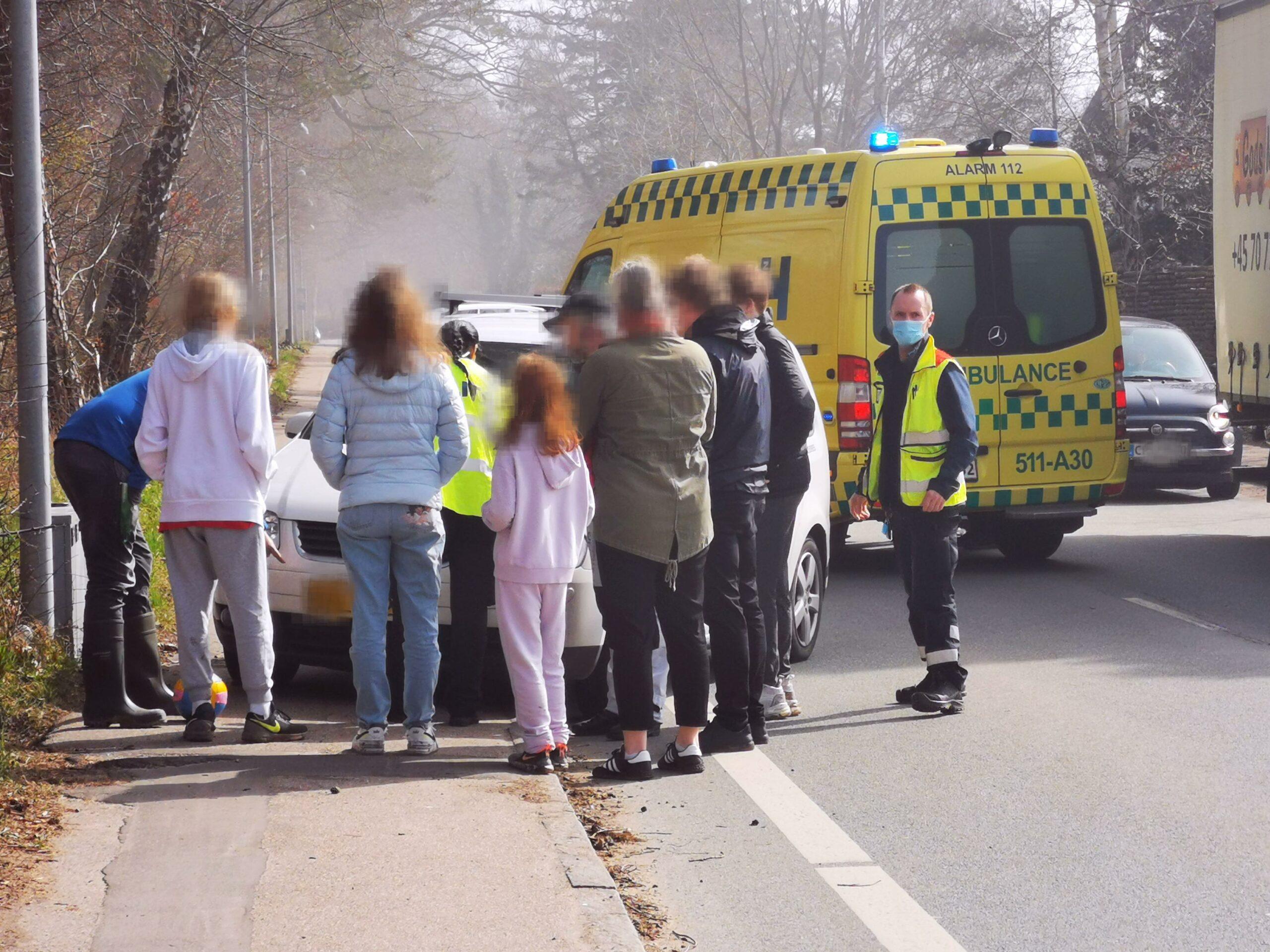 Alvorlig ulykke ved Strandvejen