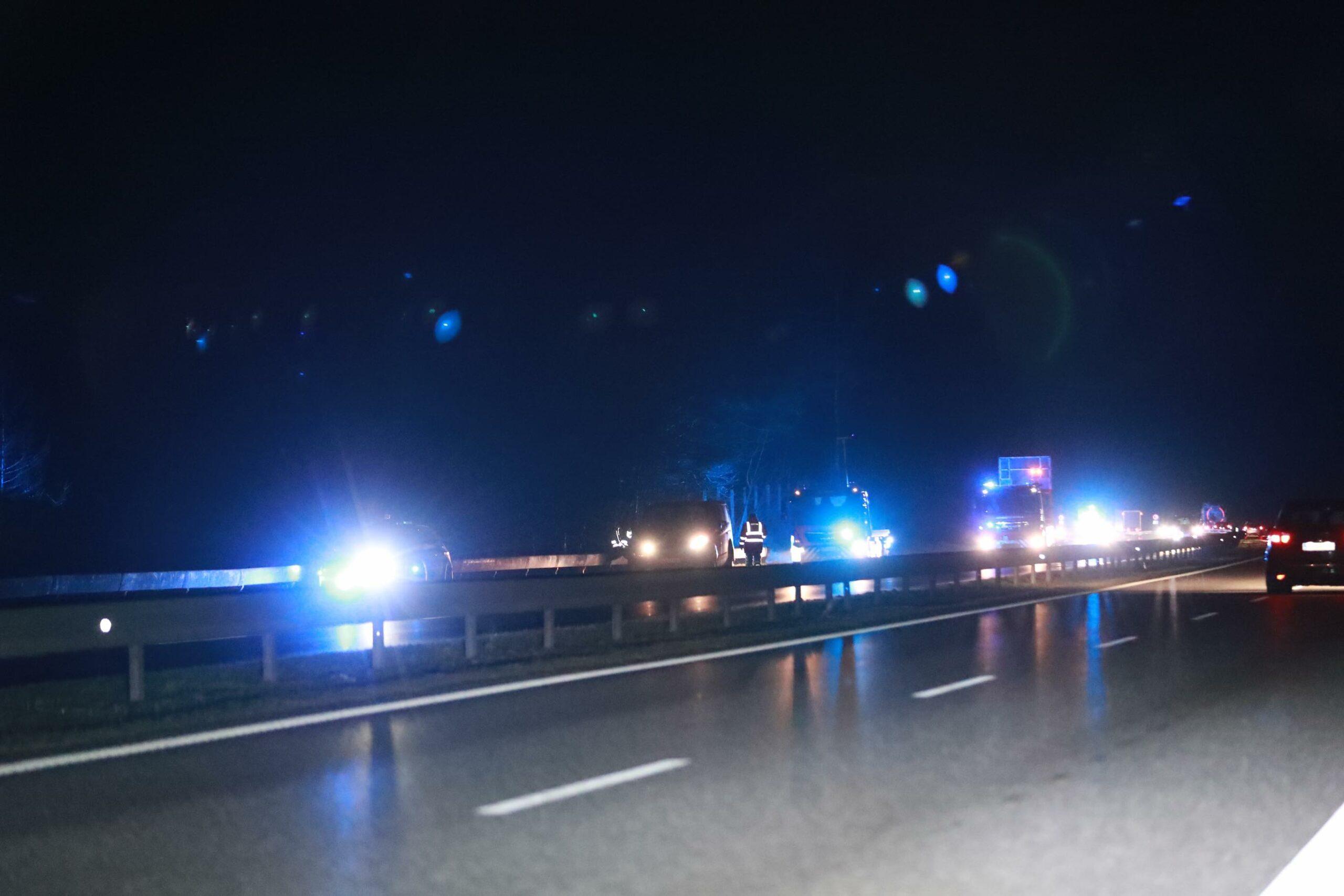 Tre biler i uheld på motorvejen
