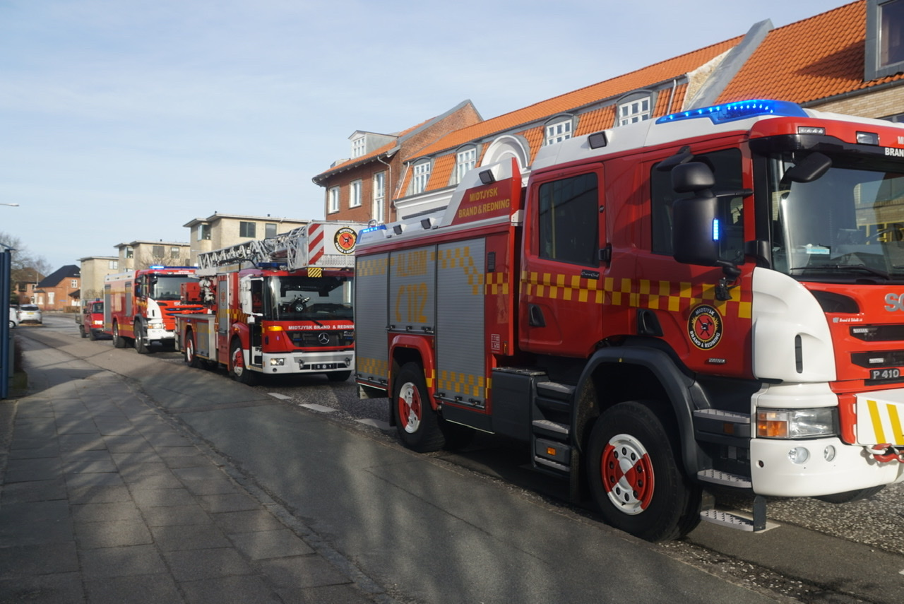 Brandalarm i Viborg søndag morgen