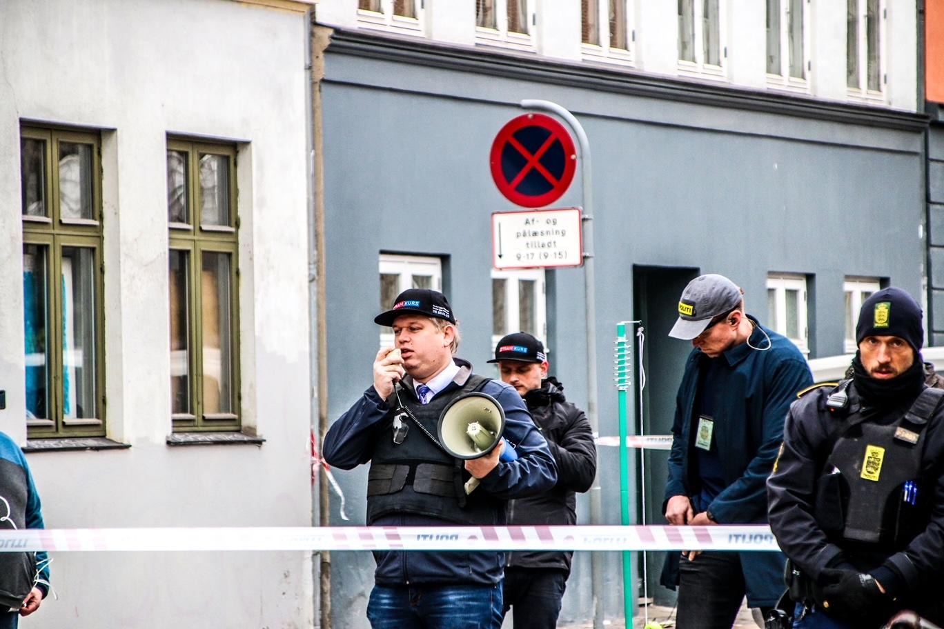 Rasmus Paludan demonstrerer på Nørrebro
