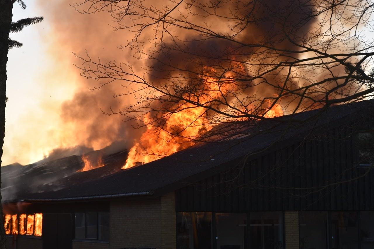 Brand i tømrervirksomhed i Fredericia