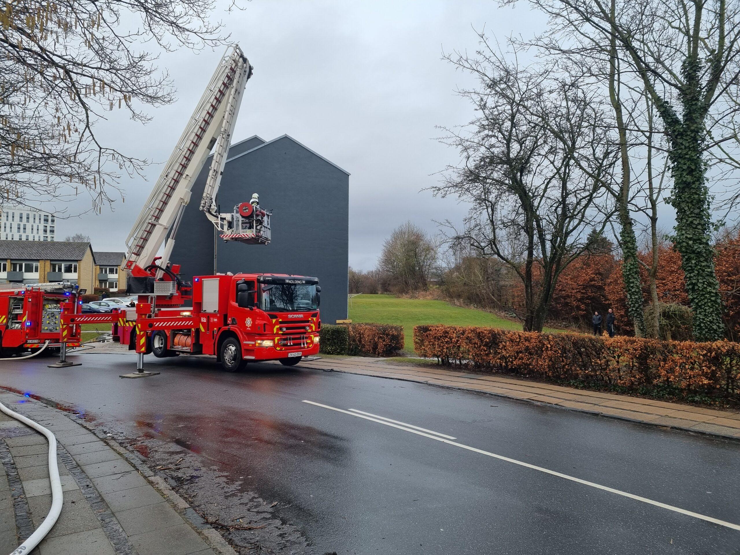 Brand i lejlighed i Kolding