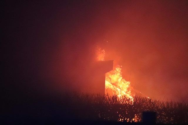 Brand i kolonihavehus i Køge