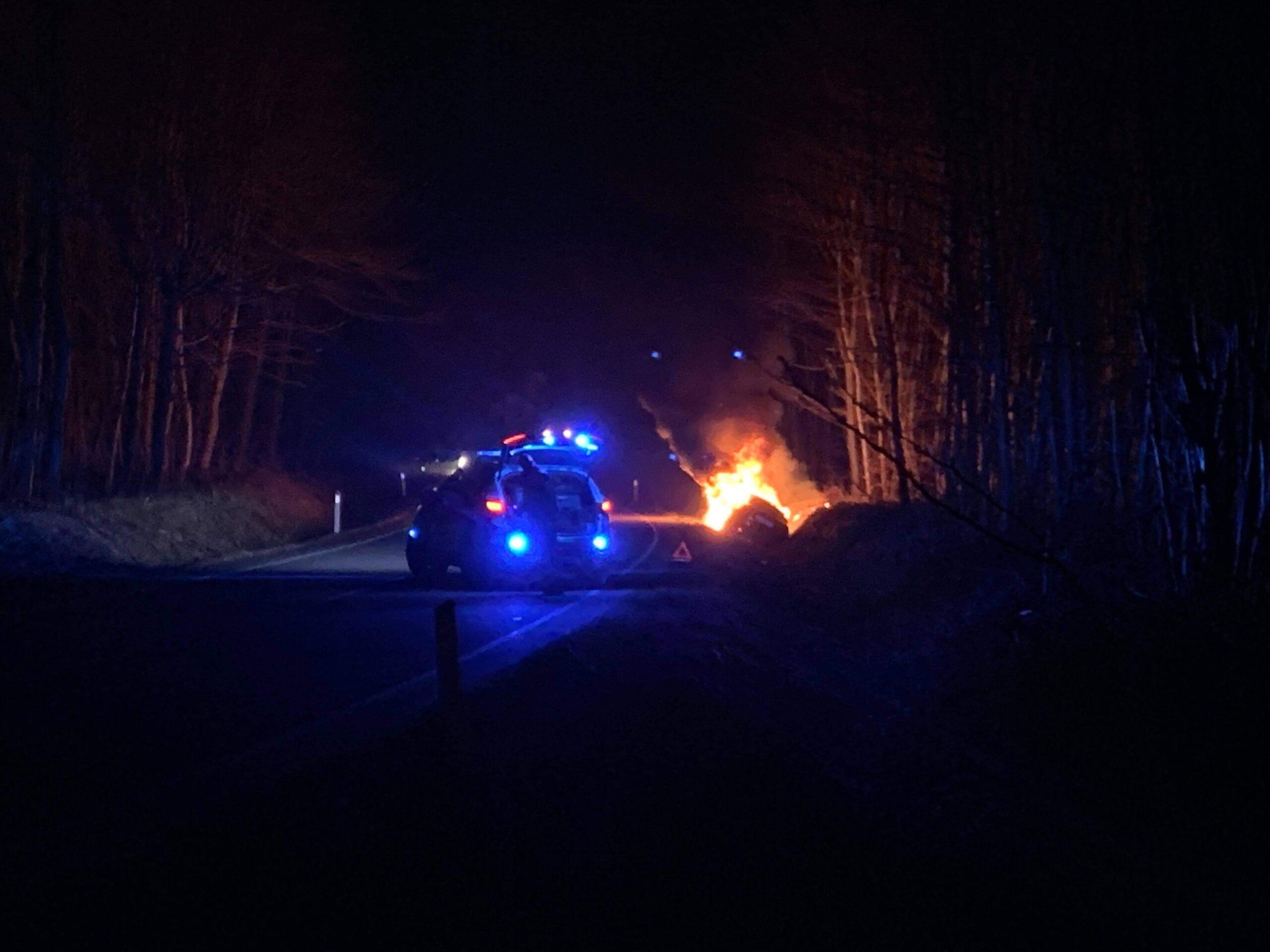 Bilbrand i Toreby natten til torsdag