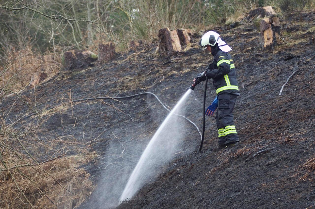 Større naturbrand i Egtved