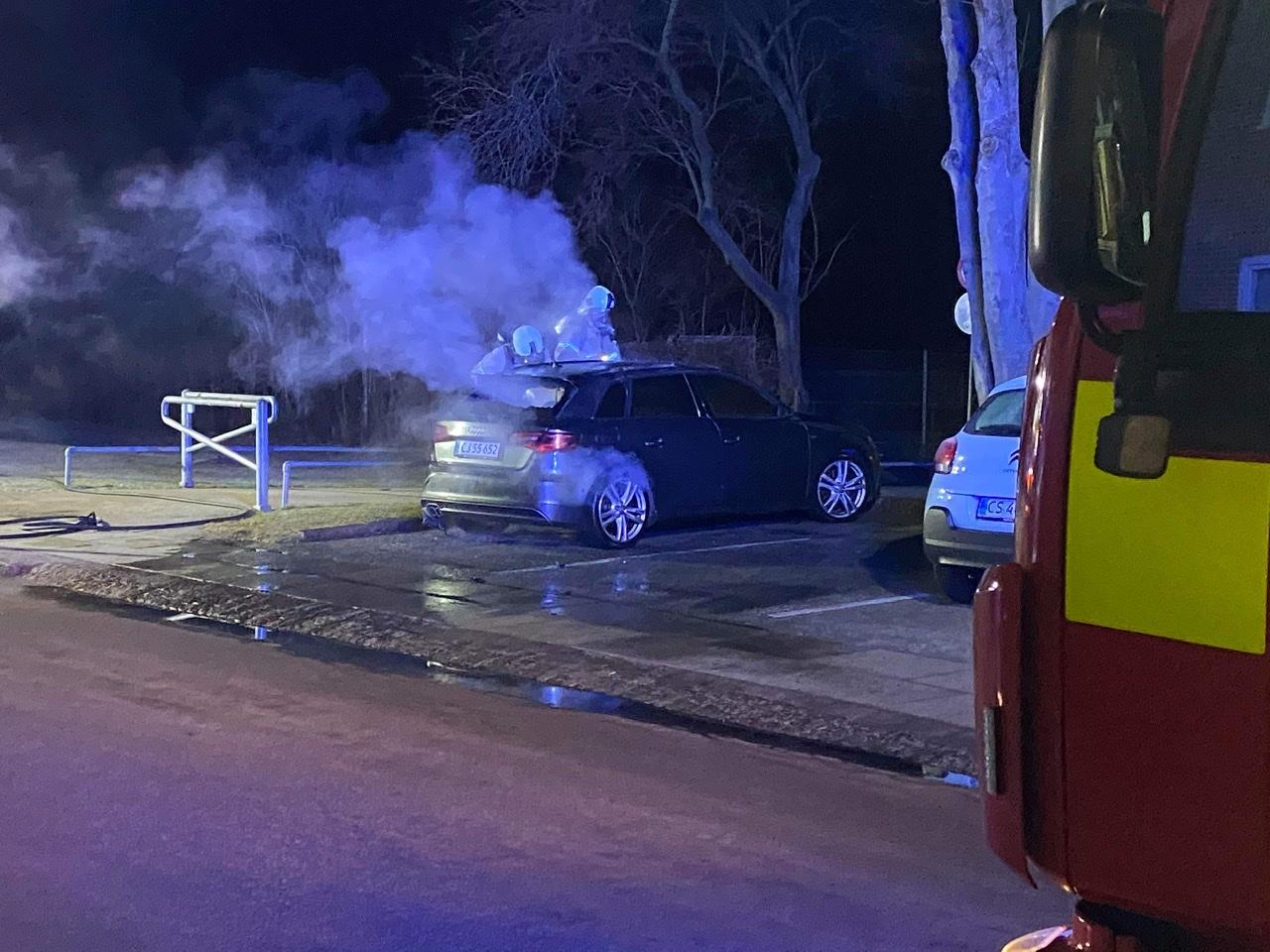 Bilbrand i Brøndby natten til lørdag