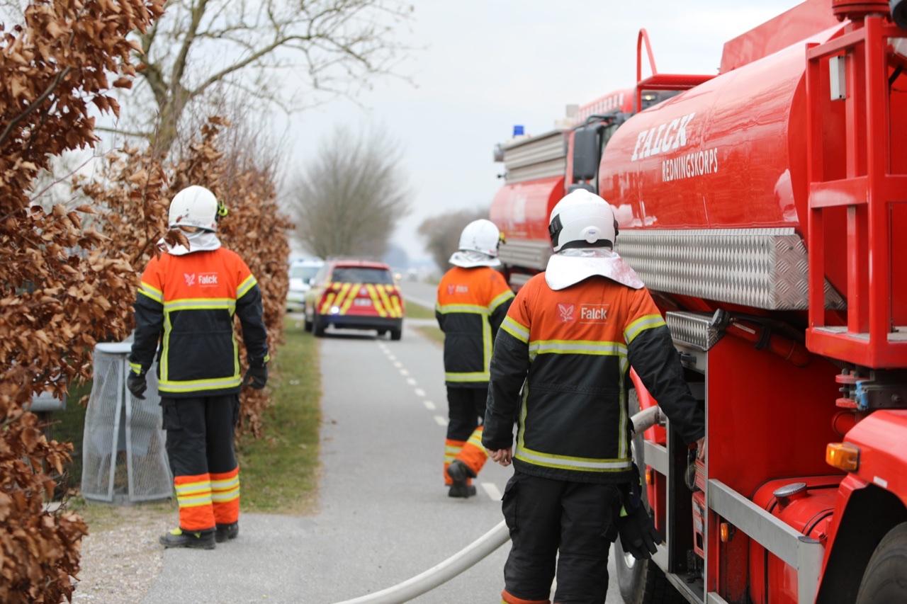 Stor gårdbrand i Hesselager på Fyn