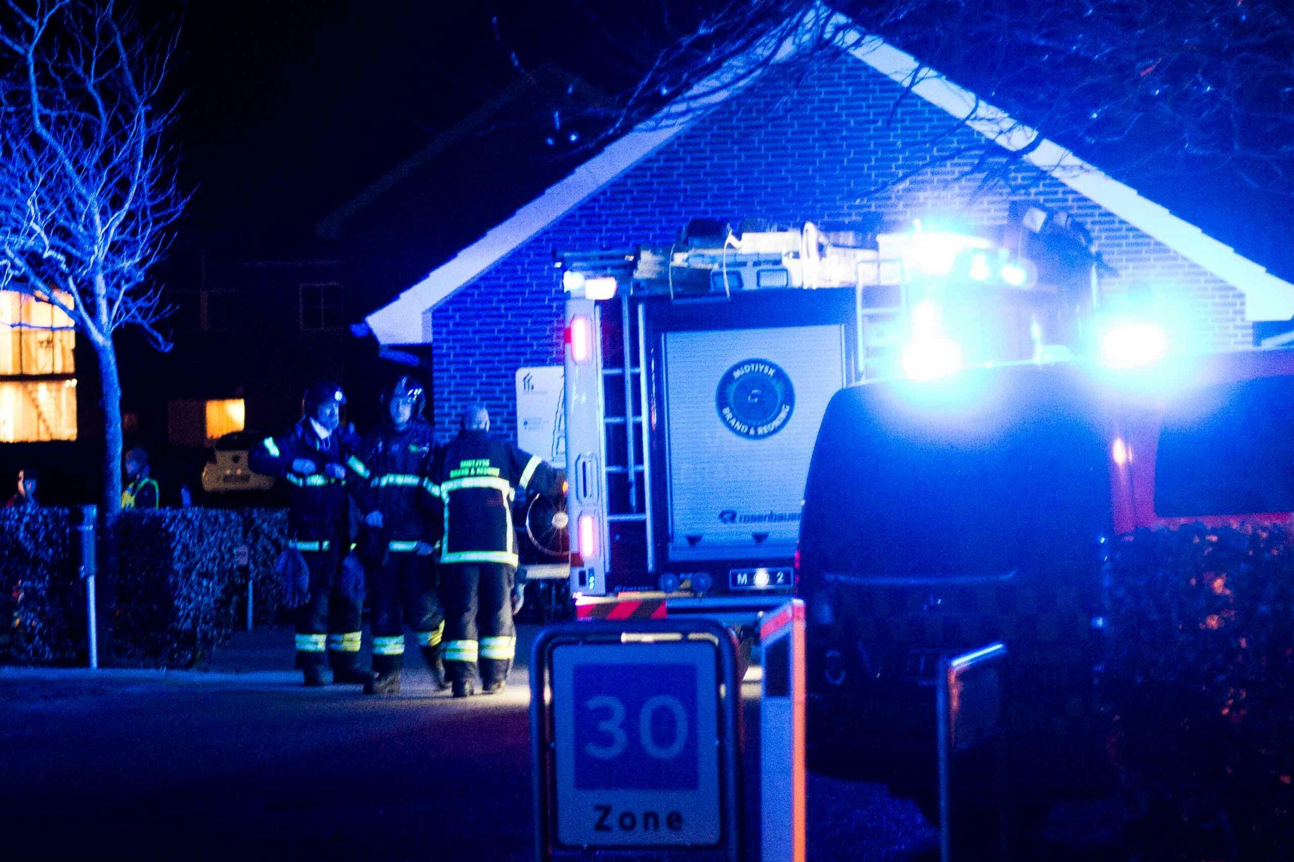 Brandalarm hos et bofællesskab i Viborg