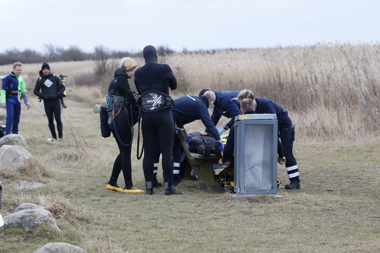 Kitesurfer tilskadekommen i Dragør