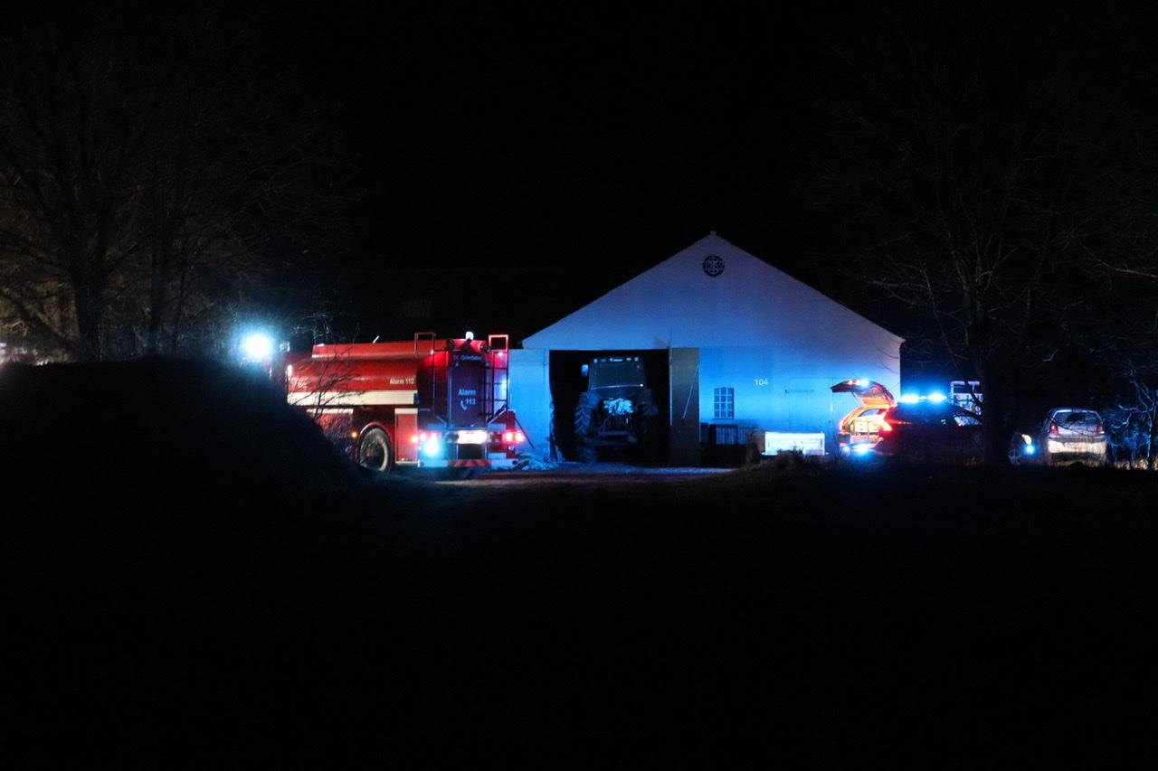 Bygningsbrand i Hejnsvig