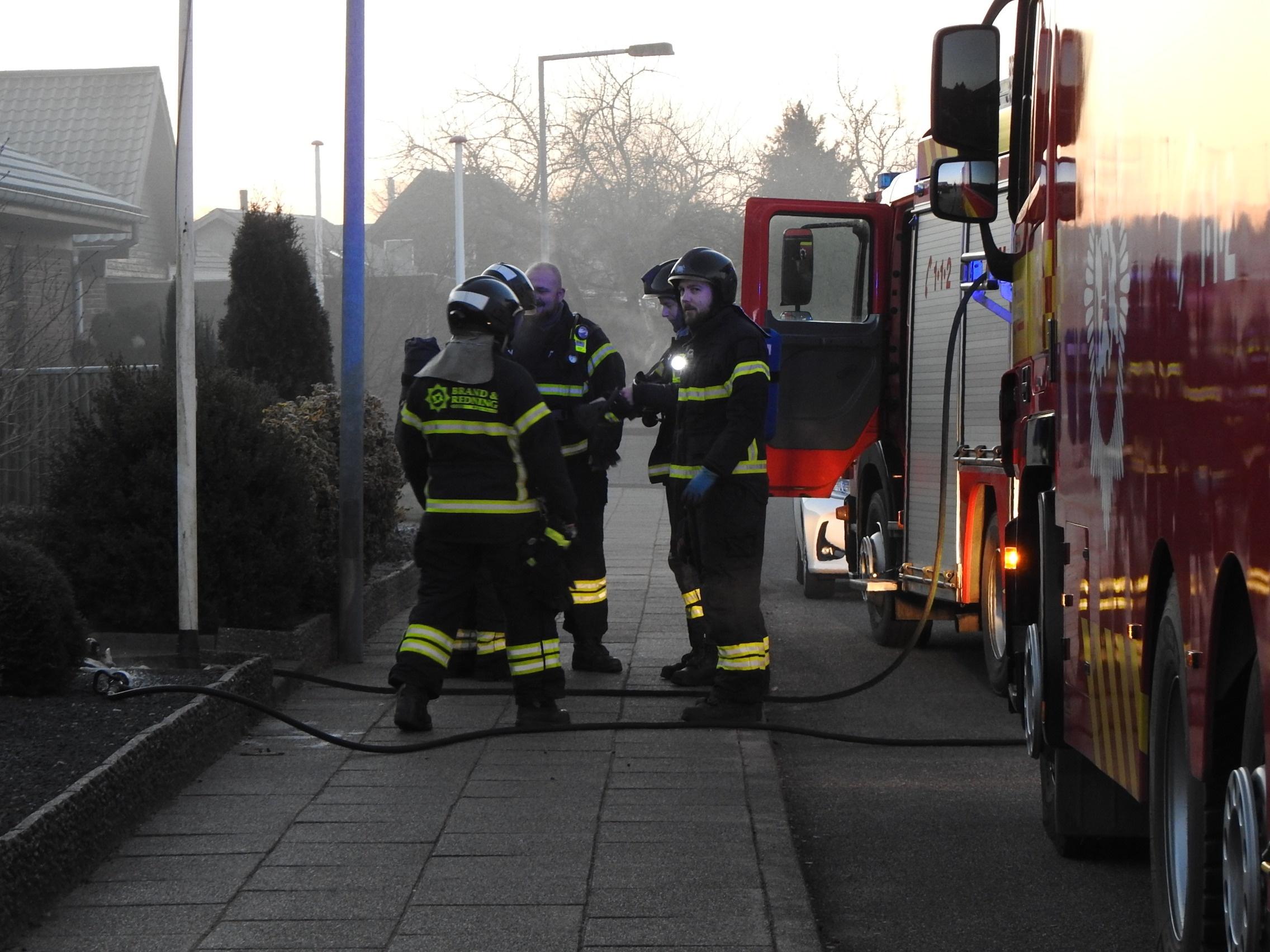 Ild i villa i Herning fredag morgen