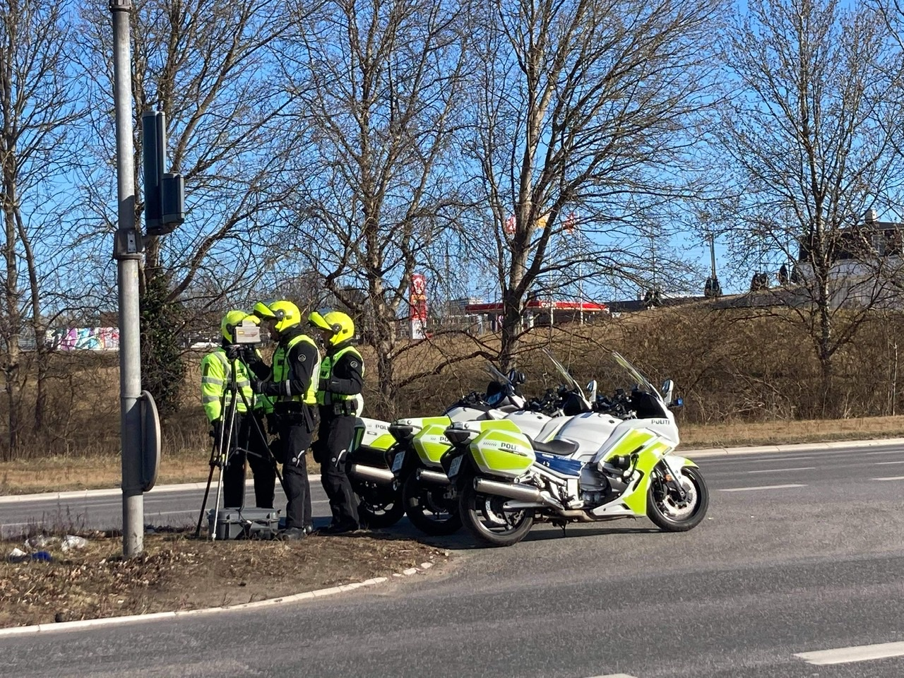 Fartkontrol på Holbækmotorvejen ved Folehaven