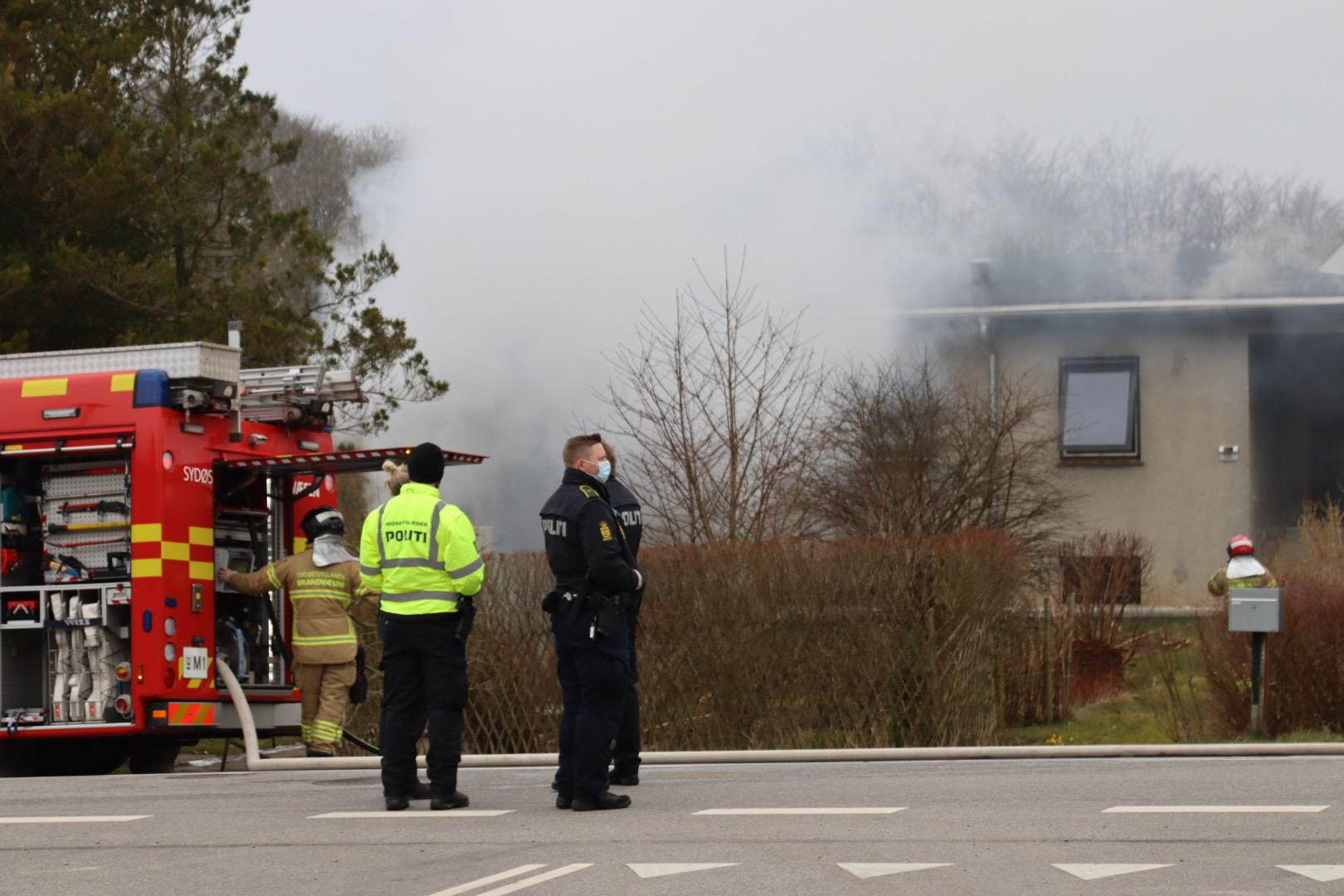 Bygningsbrand ved Horsens