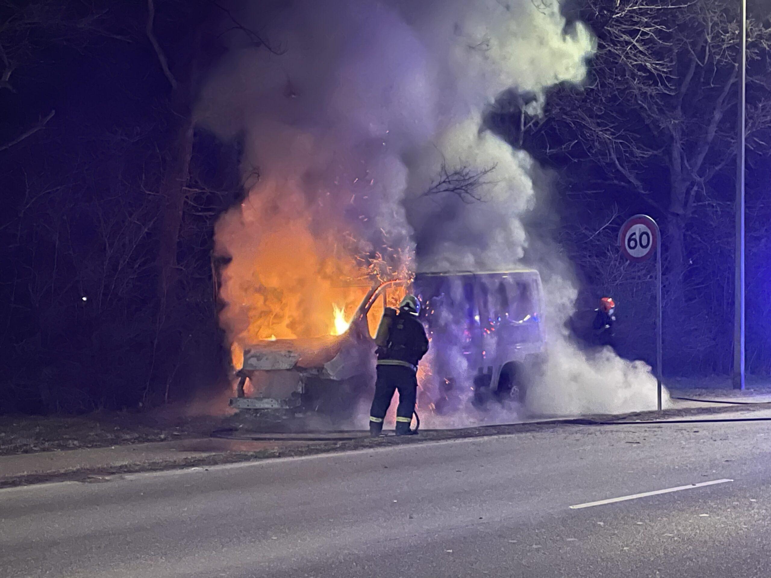 Bilbrand i Slagelse - bil udbrændt