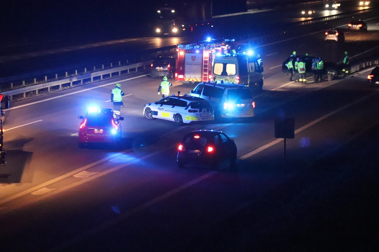 Voldsom ulykke på Helsingørmotorvejen torsdag aften