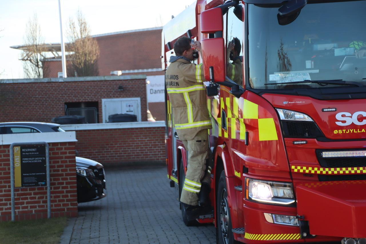 Melding om brand på Skejby Sygehus