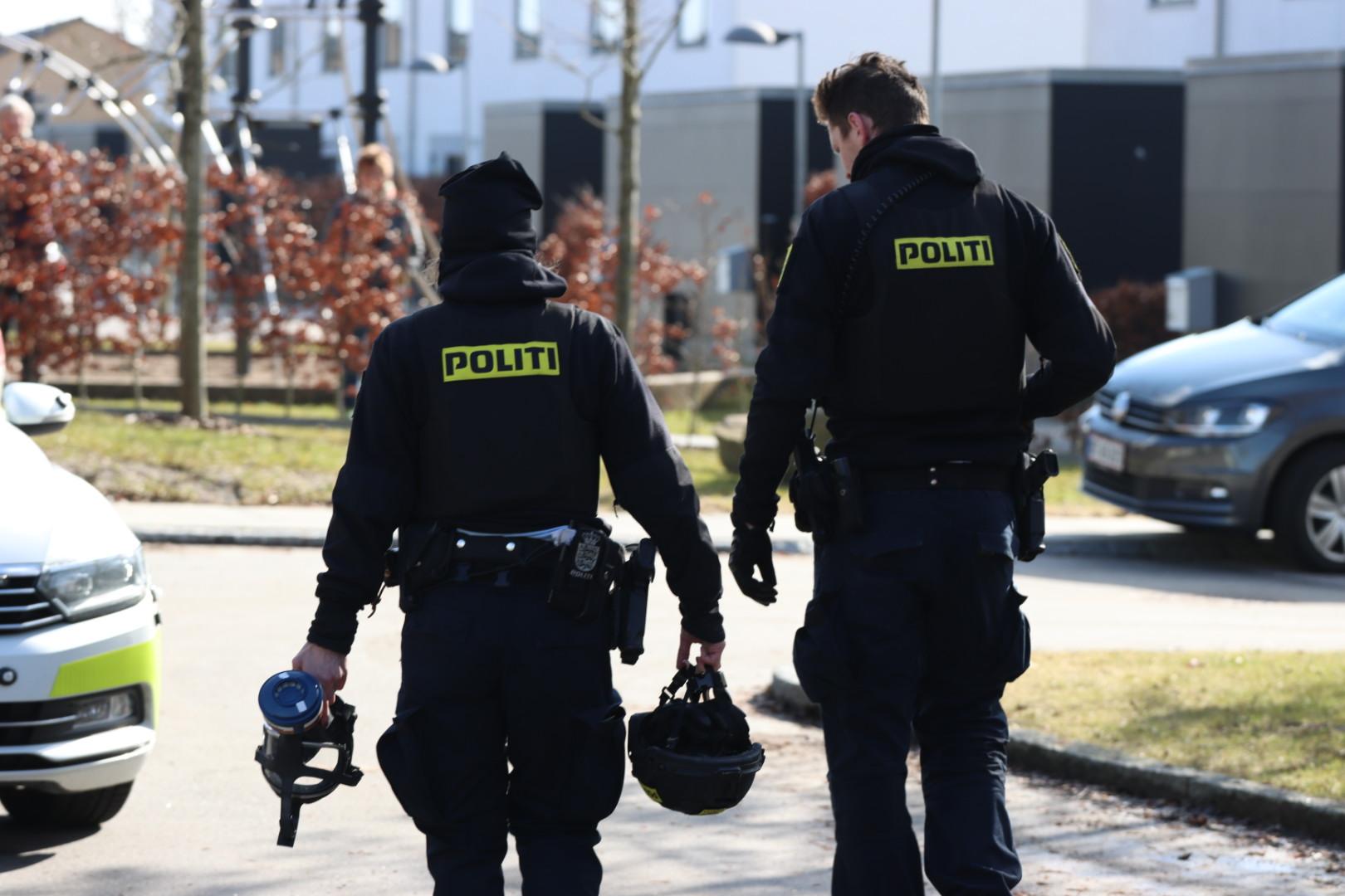 Politiaktion i Viby søndag formiddag
