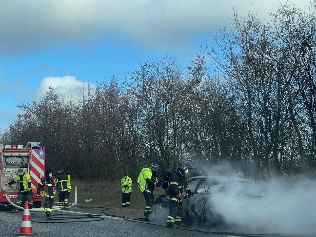 Bilbrand på Sønderjyske Motorvej