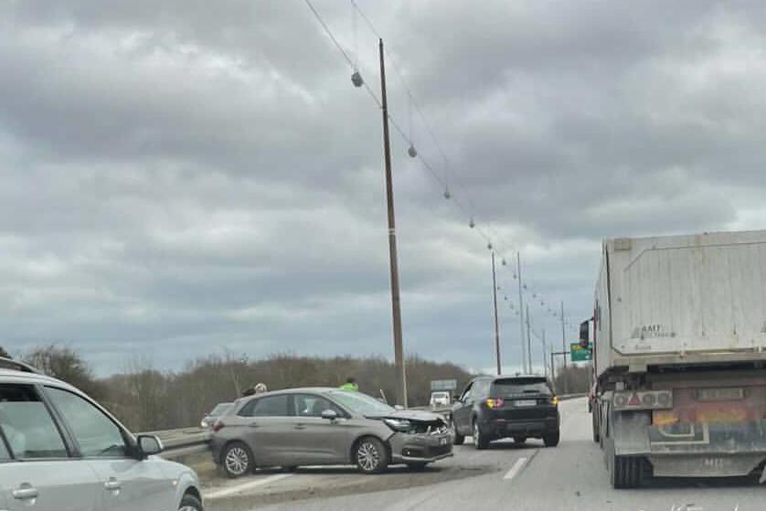 Uheld på Holbækmotorvejen