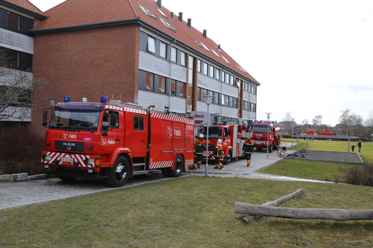 Melding om brand i Svendborg