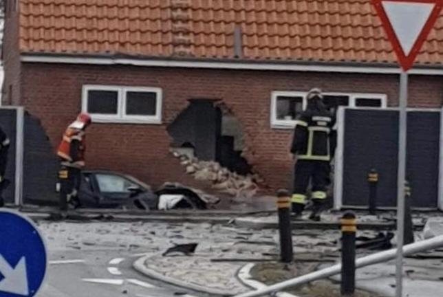 Voldsom ulykke i Ribe søndag eftermiddag
