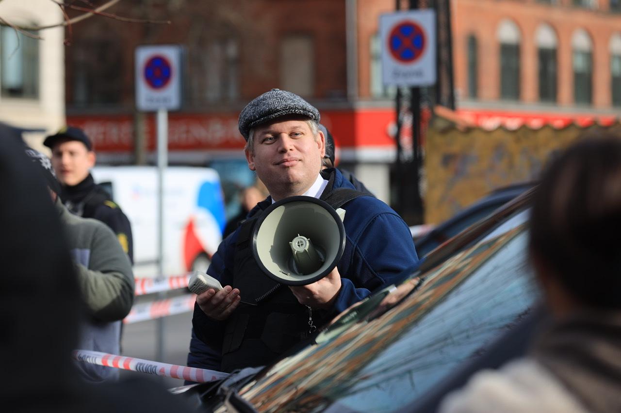 Massivt sikkerhedsopbud ved Paludan demo på Nørrebro