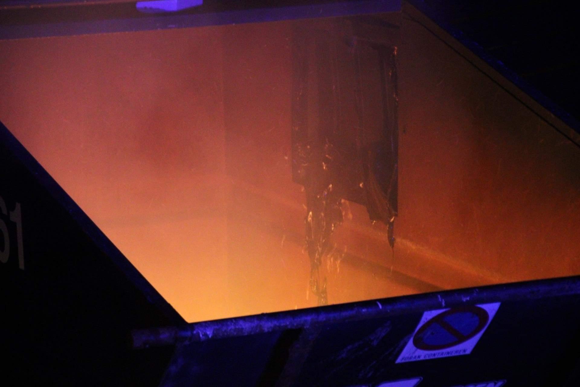 Ild i container i Ballerup fredag aften