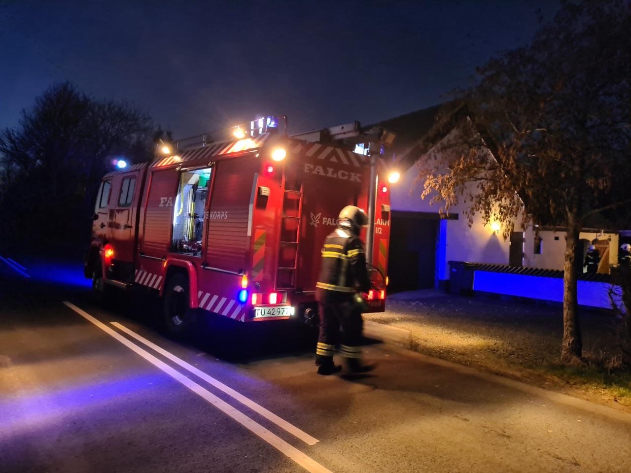 Skorstensbrand i Ågård tirsdag aften