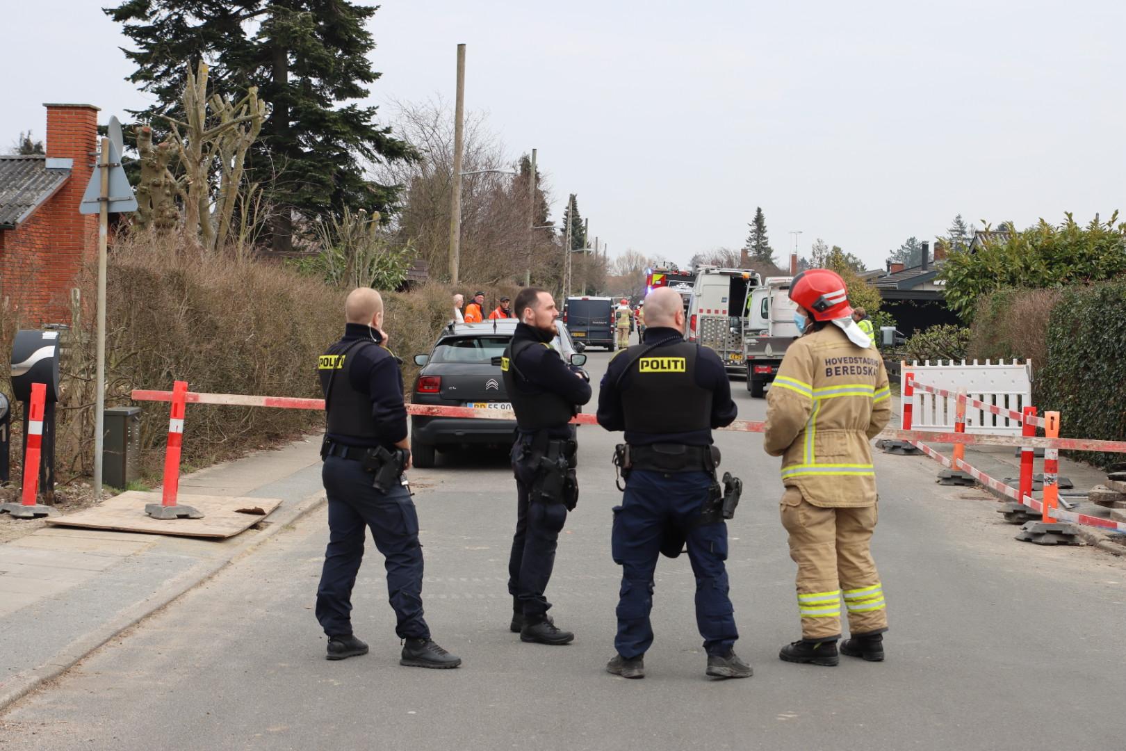 Overgravet gasledning i Dragør onsdag eftermiddag