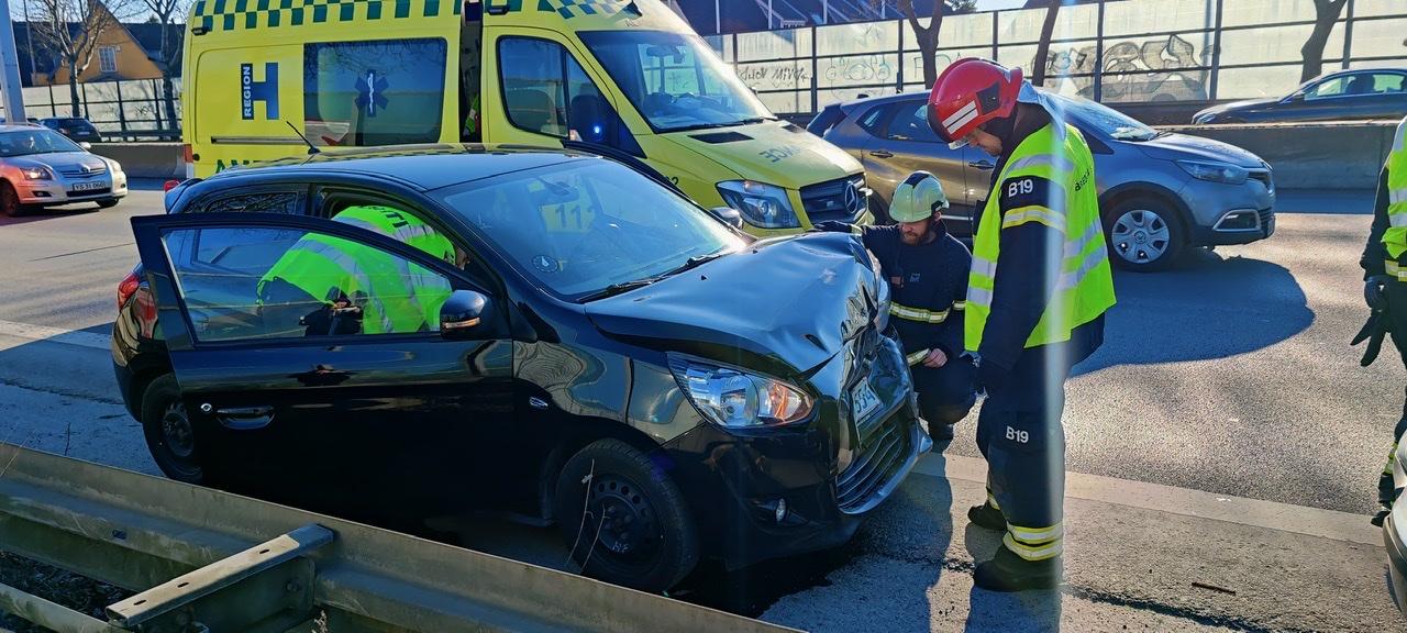 Mindre ulykke på Helsingørmotorvejen