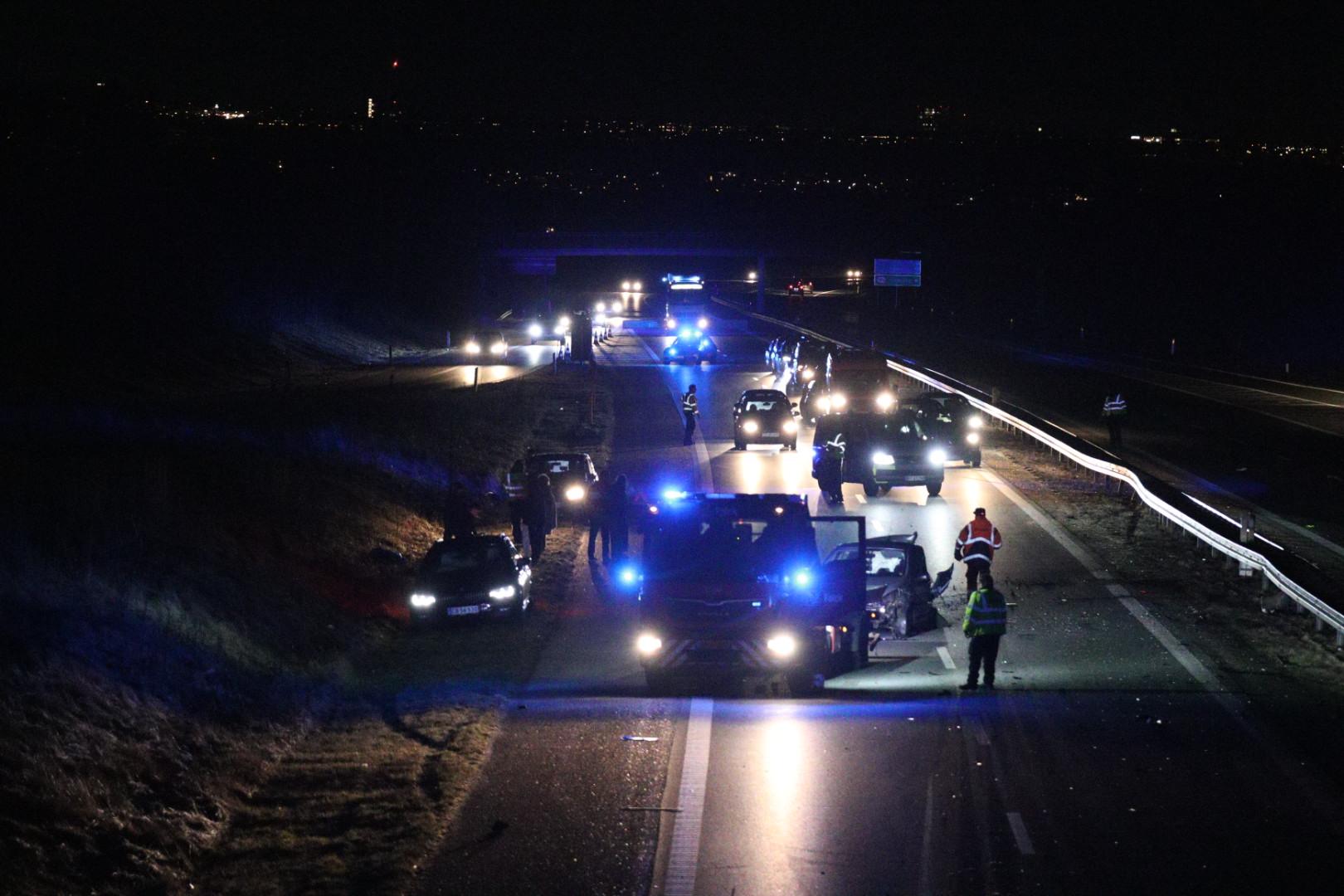 Flere biler i uheld på Djurslandsmotorvejen