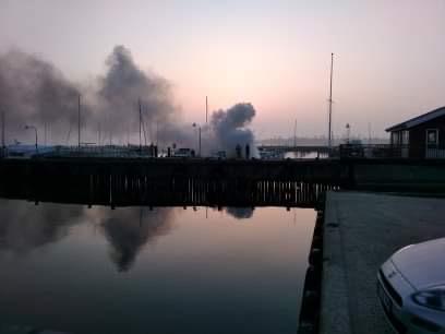Brand i både på Stubbekøbing havn