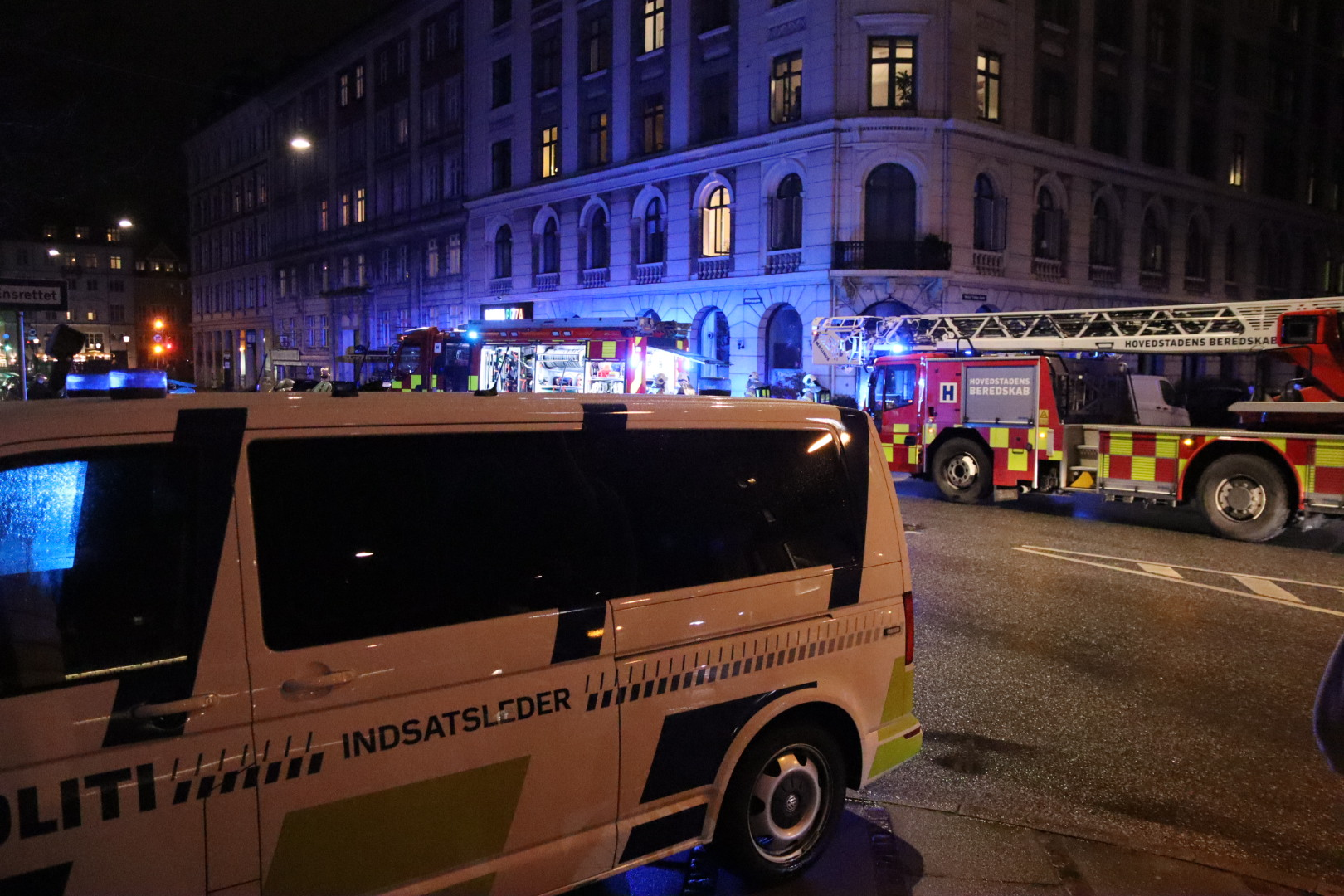 Brand i restaurant i København