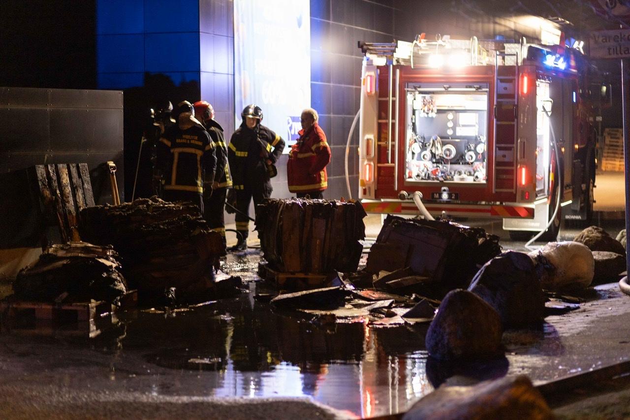 Melding om brand i Viborg Storcenter