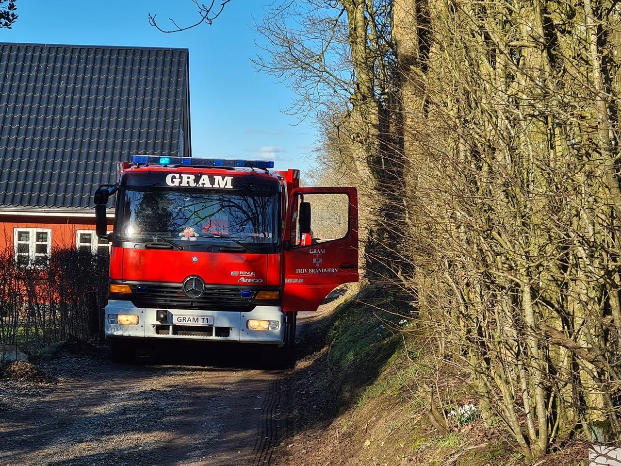 Melding om brand i Gram