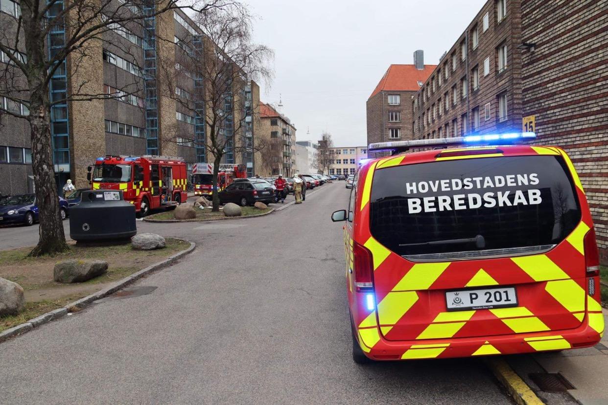 Brand i lejlighed på Nørrebro