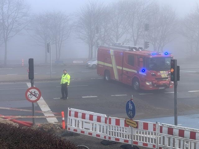 Uheld i Esbjerg mandag morgen