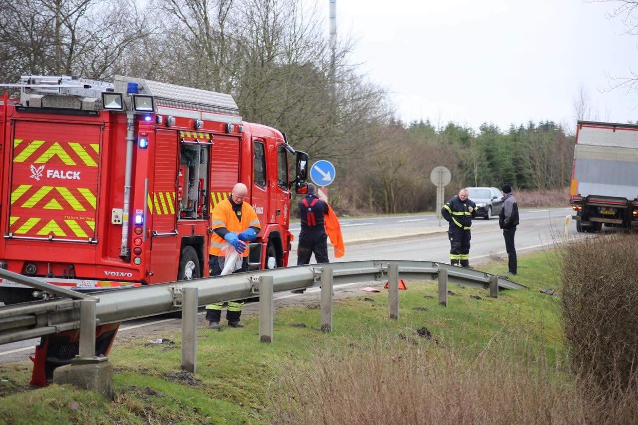Lastbilulykke i Almind ved Kolding