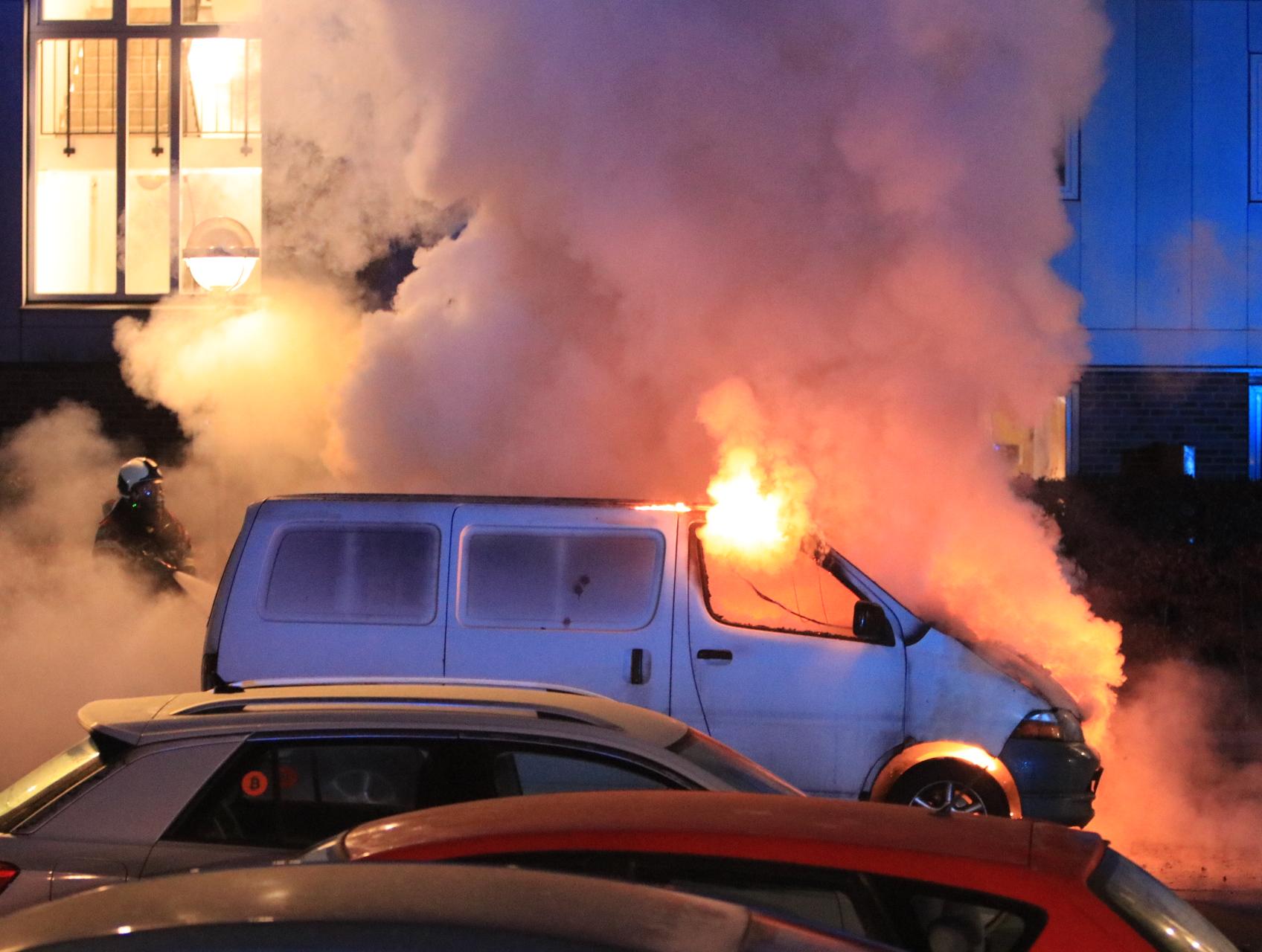 Flere biler i brand i Ishøj