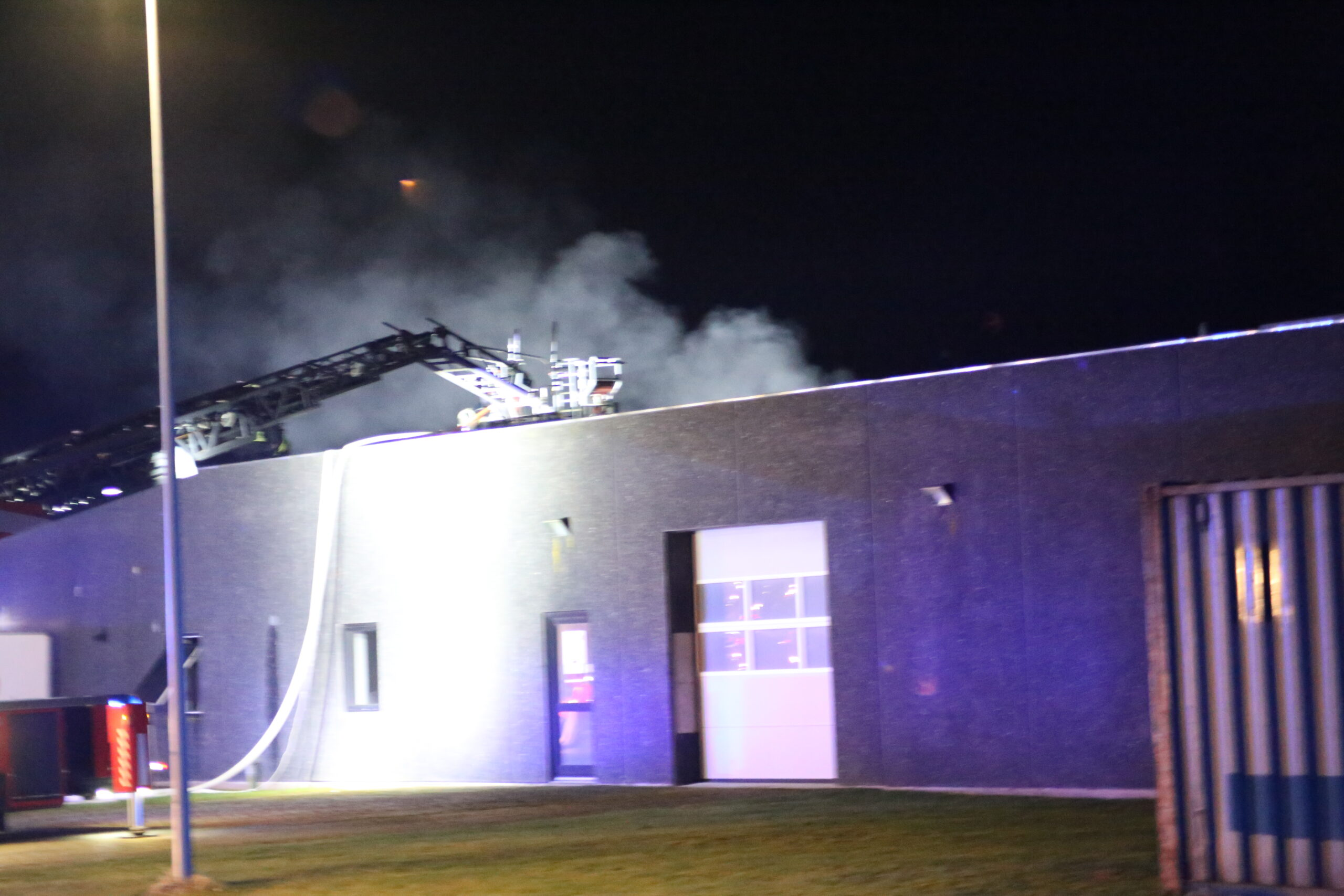Brand i industribygning